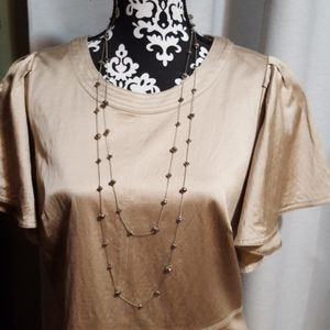 Silver layered bead necklace and earrings